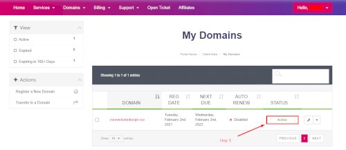 My Domain Active