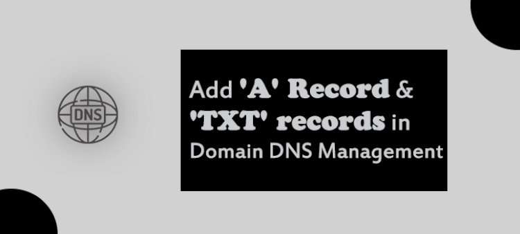 How to add 'A' Record & 'TXT' records in Domain DNS Management